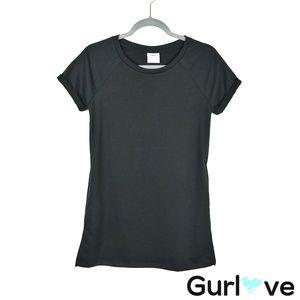 Tresics Beach Solid Black Pocket Beach Dress Sz S